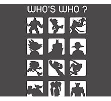 Who's who ? Photographic Print