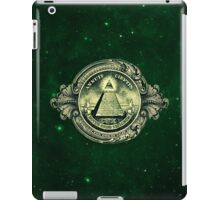 All seeing eye, pyramid, dollar, freemason, god iPad Case/Skin