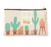 Cats Love Cacti Studio Pouch
