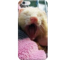 Sandy polecat Yawning iPhone Case/Skin