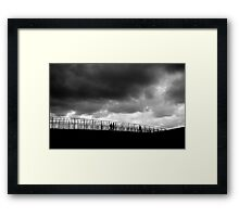 Oh, a storm is threatenin'... Framed Print