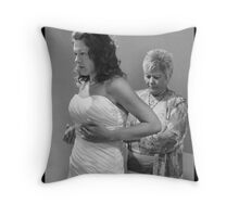 Getting Dressed Throw Pillow