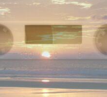 analog sunset Sticker