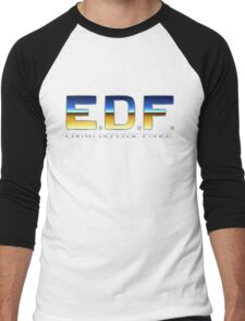 Earth Defense Force - SNES Title Screen Men's Baseball ¾ T-Shirt