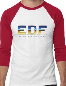 Earth Defense Force - SNES Title Screen Men's Baseball ¾ T-Shirt