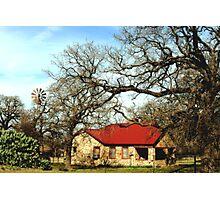 A Texas Homestead Photographic Print