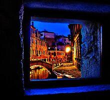 Mystical Window Venice Fine Art Print by stockfineart