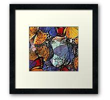 Face Framed by Butterflies Framed Print