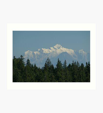 Mont-Blanc Art Print