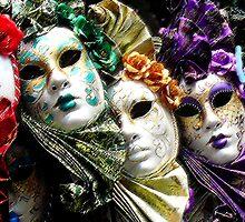 Venice Mask Rainbow  by D.L. Brooks