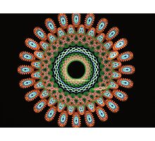 The blossoms and butterflies mandala Photographic Print