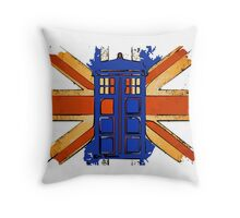 Dr Who - The Tardis - Vintage Jack Throw Pillow