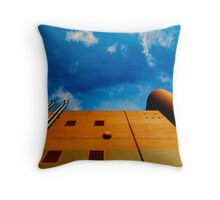 round and square architecture Throw Pillow