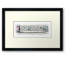 MATTHEW 22 - THE GREATEST COMMANDMENT Framed Print