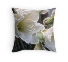 Fractalius lillies.... Throw Pillow