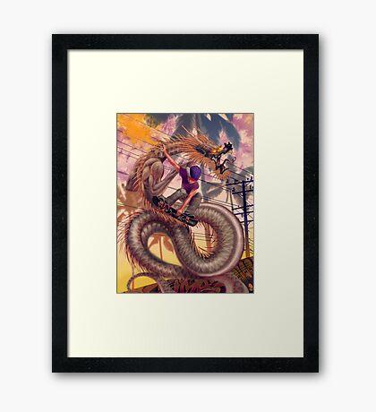 Dragon Skater Framed Print