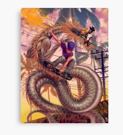 Dragon Skater Canvas Print
