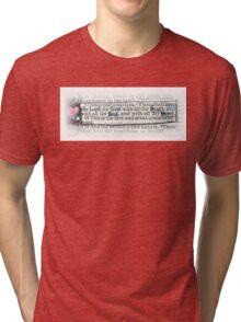MATTHEW 22 - THE GREATEST COMMANDMENT Tri-blend T-Shirt