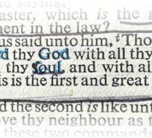 MATTHEW 22 - THE GREATEST COMMANDMENT Sticker