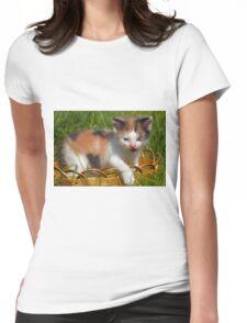 cat pet Womens Fitted T-Shirt