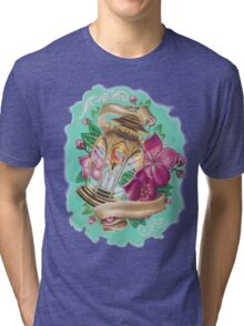 lantern with cherry blossoms Tri-blend T-Shirt