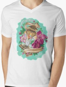 lantern with cherry blossoms Mens V-Neck T-Shirt