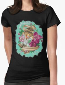 lantern with cherry blossoms Womens Fitted T-Shirt