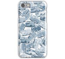 Camper Collage (Blue) iPhone Case/Skin