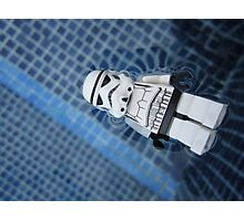 Dave Stormtrooper Tenerife in Pool Photographic Print