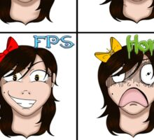 Gaming Faces of OoLaLa Sticker