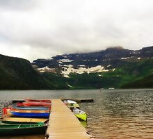 Brilliant Boats at Cameron Lake by Vickie Emms