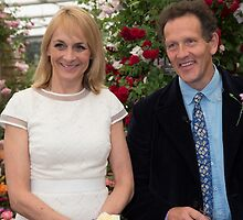 Louise Minchin & Monty Don by Keith Larby