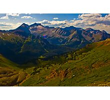 Amazing View of Snowmass Mountain and Lake Photographic Print