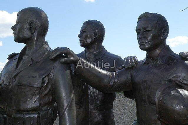 WI Korean War Memorial - The Statues #2 by AuntieJ