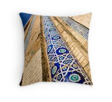 Silkroad Skyscraper Throw Pillow