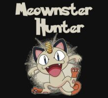Meownster Hunter Meowth (with background) by ElleD