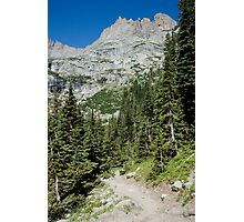 Hiking Rocky Mountain National Park Photographic Print