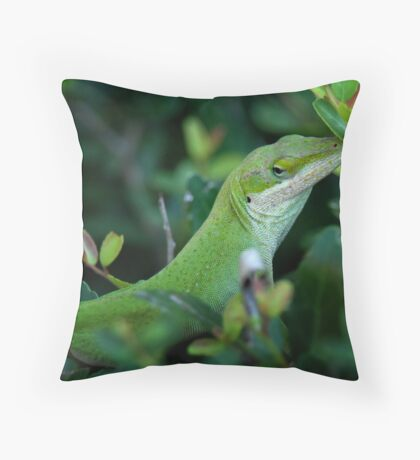 Anole Throw Pillow