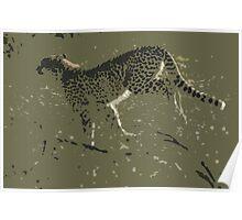 Cheetah running - Photo Art Poster