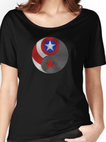 Winter Cap Ying Yang Women's Relaxed Fit T-Shirt