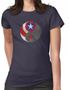 Winter Cap Ying Yang Womens Fitted T-Shirt