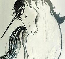 Unicorn Salute by ElfJoyRosser