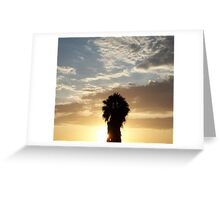 Drive in Sunset Greeting Card