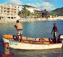 Sint Maarten, local fishermen by Jerry Clitty