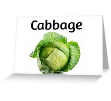 Cabbage. Greeting Card