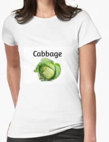 Cabbage. Womens Fitted T-Shirt