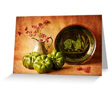 Still Life with Peppers Greeting Card