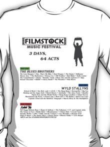 Filmstock Music Festival (black text) T-Shirt