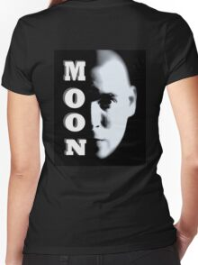 MOON FACE Women's Fitted V-Neck T-Shirt
