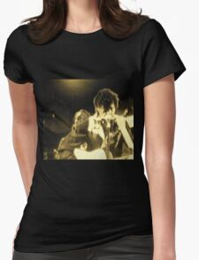 BOB DYLAN IN SEPIA Womens Fitted T-Shirt